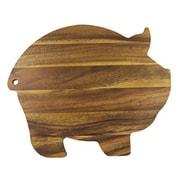 Fox Run Craftsmen Gourmet Wood Pig Shaped Cutting Board