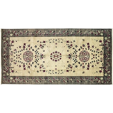Darya Rugs Eclectic Hand-Knotted Ivory/Gray Area Rug