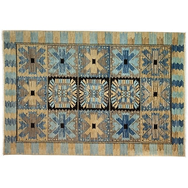 Darya Rugs Eclectic Hand-Knotted Blue/Brown Area Rug