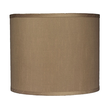 Urbanest Classic 12'' Faux Silk Drum Lamp Shade; Taupe