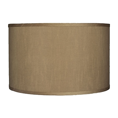 Urbanest Classic 16'' Faux Silk Drum Lamp Shade; Taupe