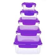Lock & Lock Plastic 10 Piece Food Storage Container Set; Plum