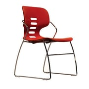 Trendway Armless Stacking Chair; Red