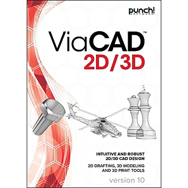 Punch! – Logiciel de conception ViaCAD 2D/3D version 10 pour PC Windows, anglais