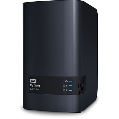 WD – Dispositif de stockage en réseau My Cloud EX2 Ultra, 8 To (WDBVBZ0080JCH-NESN)