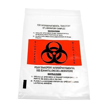 Marathon – Sac en plastique pour spécimens/matières contaminées, avec poche (MD030196)