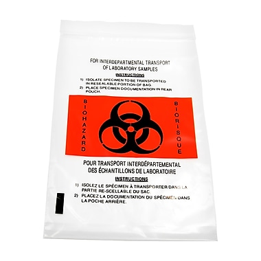 Marathon Specimen/Biohazard Plastic Bag with Pocket (MD030196-500)