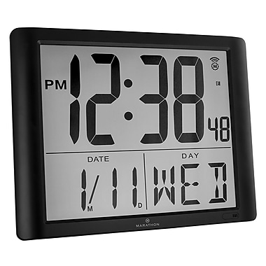 Marathon Super-Jumbo Atomic Digital Wall Clock with 7