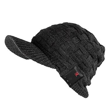 Caseco Blu-Toque Bluetooth Speaker Hat with Visor, Dark Grey (CC-BTQ-DGV)