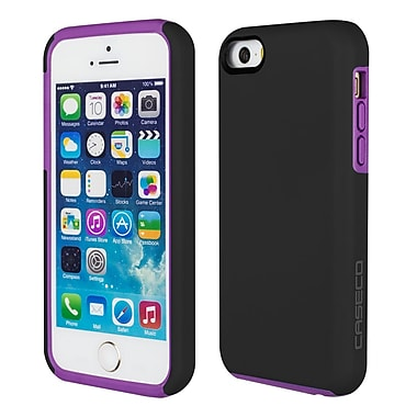 Caseco - Étui Flux pour iPhone SE/5s/5C, noir/violet (CC-FX-IP5-BP)