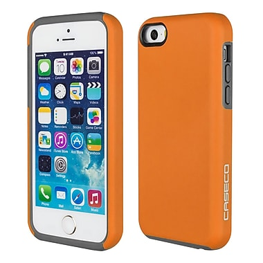 Caseco - Étui Flux pour iPhone SE/5s/5C, orange/gris (CC-FX-IP5-OR)