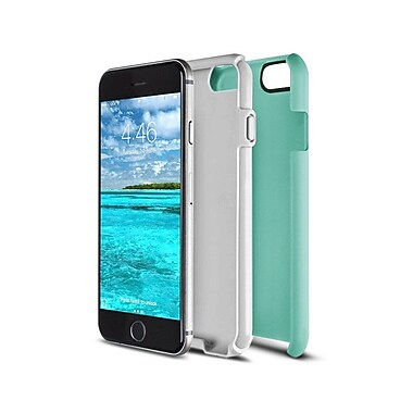 Caseco Flux Case for iPhone 6S, Turquoise/White (CC-FX-IP6-TW)