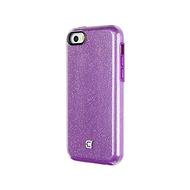 Caseco Flux Glam Case for iPhone SE/5S, Purple/Clear (CC-GM-IPSE-PR)