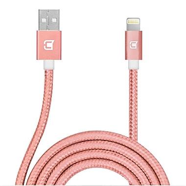 Caseco - Câble de chargement et de synchronisation Lightning tressé, 3,3 pi, rose doré (CC-BLC-1M-RG)