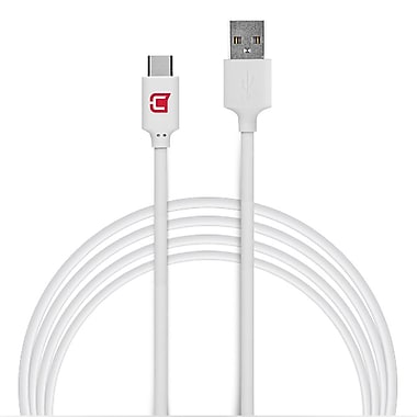 Caseco - Câble de chargement et de synchronisation USB, 3,3 pi, blanc (CC-USBC-1M-WH)