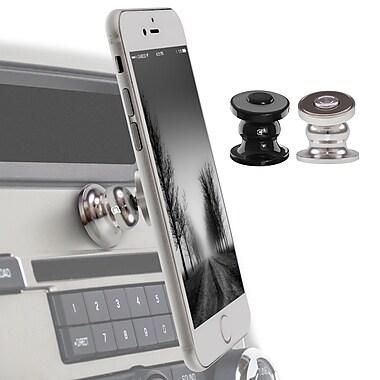 Caseco – Support de véhicule Core 360 magnétique haut de gamme pour téléphone cellulaire, noir/chrome, paq./2