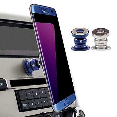 Caseco Core 360 Cell Phone Car Mount, Chrome/Blue, 2/Pack (CC-CR360X2-CHBL)