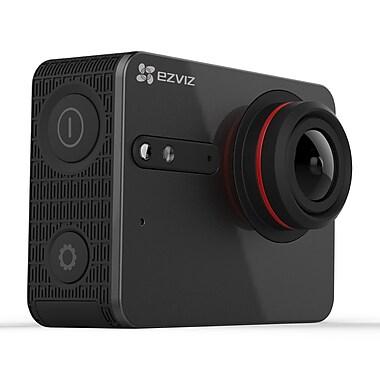 EZVIZ – Caméra d'action FIVE PLUS Ultra HD 4K, avec étui étanche à écran tactile, noir (EZ5PLUSBLK)