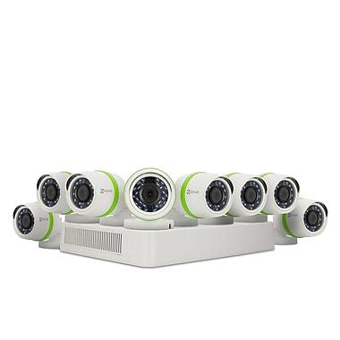 EZVIZ – Système de sécurité 16 canaux, 8 caméras canon 1080p, 2 To, blanc (BD-2G28B2)