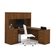 "BESTAR Embassy 71"" L-shaped Desk, Tuscany Brown  (60893-63)"
