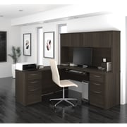"BESTAR Embassy 71"" L-Shaped Desk, Dark Chocolate (60893-79)"