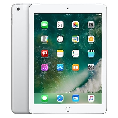 Apple – Tablette iPad MP272CL/A, 9,7 po, WiFi + Cellular, puce Apple A9, Flash 128 Go, iOS 10, argent