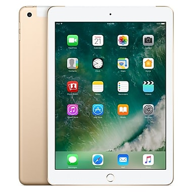 Apple – Tablette iPad MPG52CL/A, 9,7 po, WiFi + Cellular, puce Apple A9, Flash 128 Go, iOS 10, or