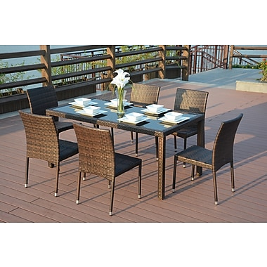 DirectWicker Emily 7 Piece Dining Set