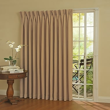 Darby Home Co Bailey Blackout Thermal Single Curtain Panel; Wheat