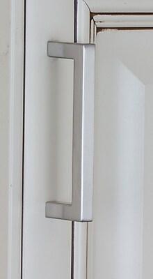 GlideRite Hardware 3 3/4'' Center Bar Pull; Satin Nickel