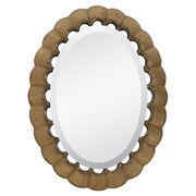 TES Traditional Oval Bevel Wall Mirror; Antique Gold