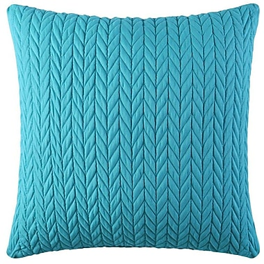 Five Queens Court Catori Square Throw Pillow; Turquoise