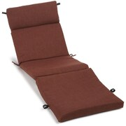 Blazing Needles Outdoor Chaise Lounge Cushion; Mocha