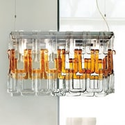 Evi Style Tessuti Mini 8-Light Kitchen Island Pendant; Transparent Crystal
