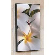 Wilson Studios Plumeria Hawaiian Flower Wall Clock