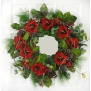 Floral Home Decor Amaryllis 25'' Christmas Wreath