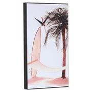 Wilson Studios Hammock Palm Tree Surfboard Wall Clock