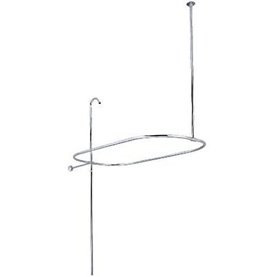 Elements of Design 42'' Rectangle Shower Curtain Enclosure; Satin Nickel