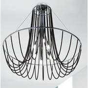 Evi Style Fall 6-Light Chandelier; Black Pearl