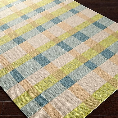 H. Potter Rain Hand-Hooked Multi-Colored Indoor/Outdoor Area Rug; Rectangle 9' x 12'