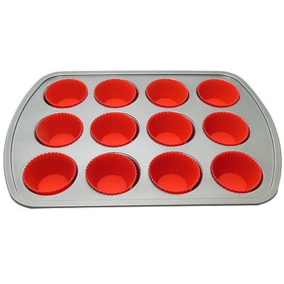 LCM Home Fashions, Inc. 12 Muffin Baking Pan w/ 12 Cup WYF078276139022