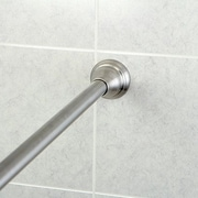 Kingston Brass Edenscape 72'' Adjustable Straight Tension Shower Curtain Rod; Satin Nickel
