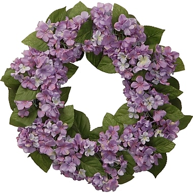 National Tree Co. 24'' Hydrangea Wreath; Purple