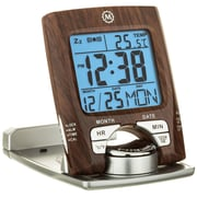 Marathon Travel Alarm Clocks with Calendar & Temperature