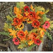 Flora Decor 22'' Autumn Sunflower Fern Wreath