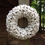 Flora Decor 20'' Thick Faux Cotton Wreath