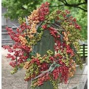 Flora Decor 24'' Berry Wreath; Autumn Bliss