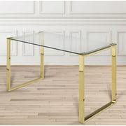 Willa Arlo Interiors Brock Rectangular Stainless Steel Writing Desk