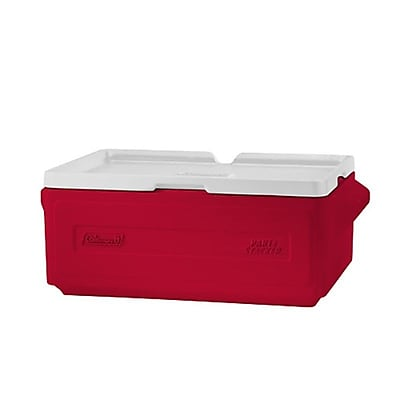 Coleman 24 Can Party Stacker Cooler; Red