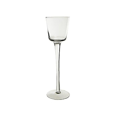 CYSExcel Stemmed Glass Candlestick (Set of 24); 10'' H x 3'' W x 3'' D